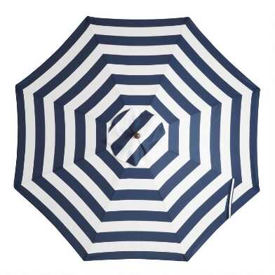 Peacoat Blue Stripe 9 Ft Replacement Umbrella Canopy