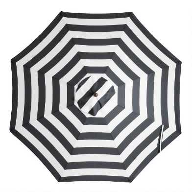 Black Stripe 9 Ft Replacement Umbrella Canopy