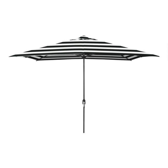 Black Stripe Rectangular Outdoor Umbrella
