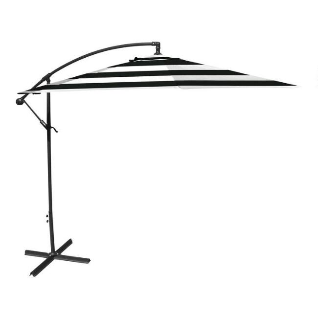 Black Stripe Cantilever Patio Umbrella