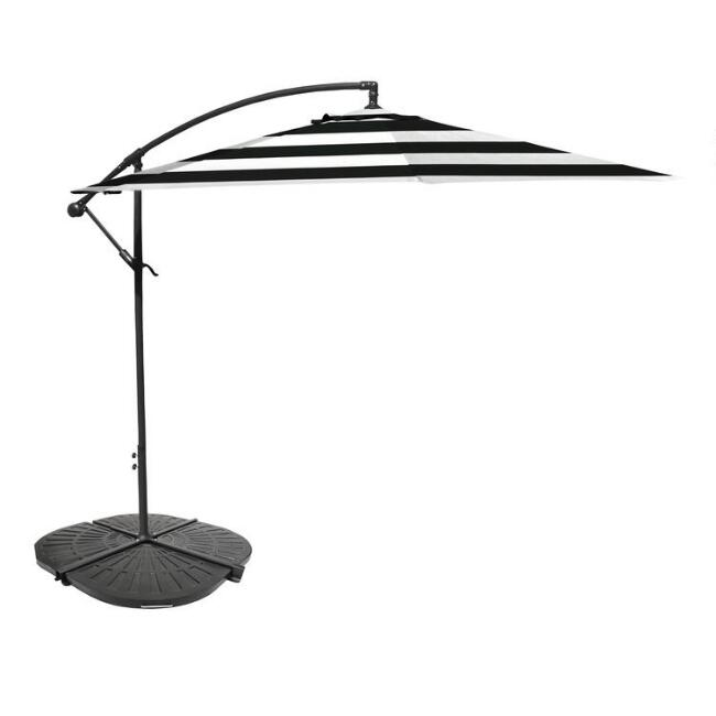 Black Stripe Cantilever Patio Umbrella Collection
