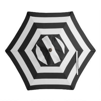 Black Stripe 5 Ft Replacement Umbrella Canopy