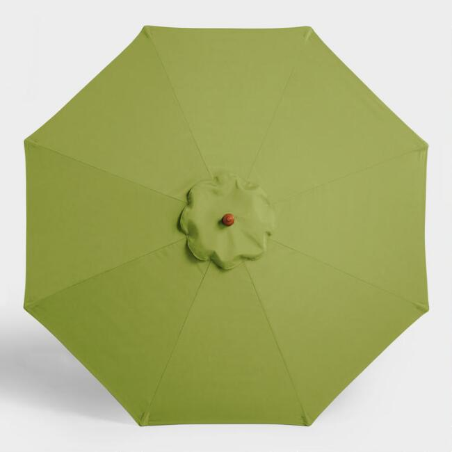 Sunbrella Green Ginkgo Canvas 9 Ft Umbrella Canopy