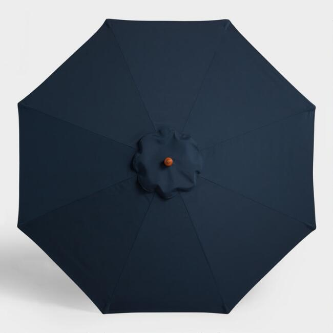 Sunbrella Indigo Blue Spectrum 9 Ft Umbrella Canopy