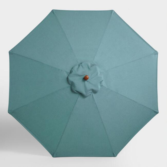 Sunbrella Teal Lagoon 9 Ft Umbrella Canopy