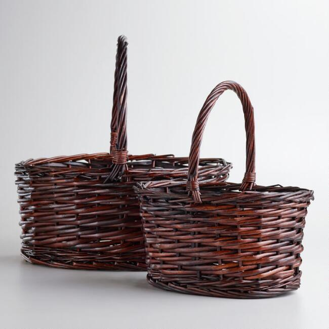 Dark Brown Oval Isabella Baskets