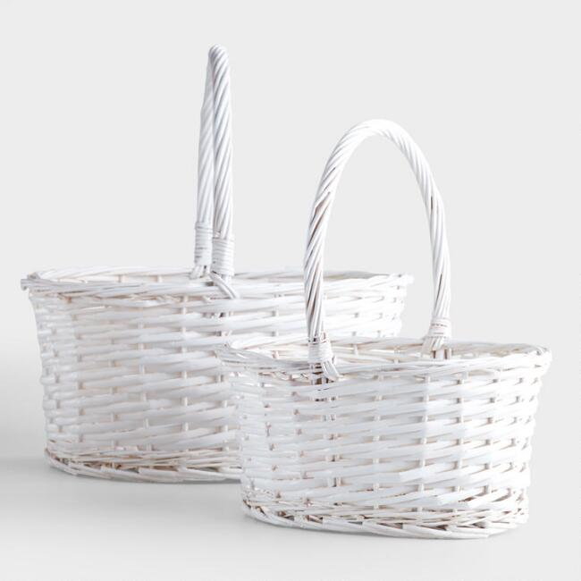 White oval isabella baskets world market white oval isabella baskets mightylinksfo