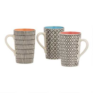 Cape Town Latte Mugs Set of 3