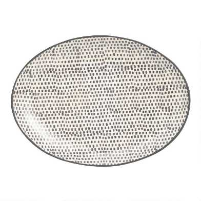 Charcoal and Ivory Alvaro Serving Platter