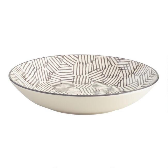 Charcoal and Ivory Alvaro Serving Bowl