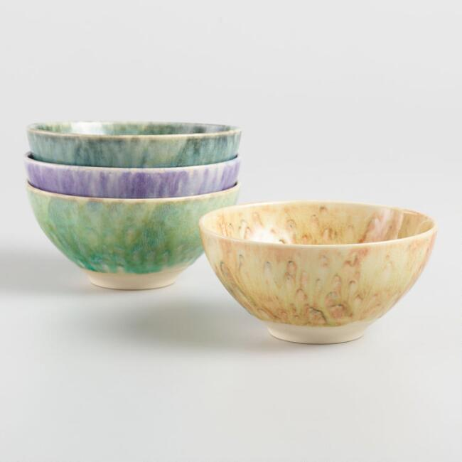 Lucia Reactive Glaze Bowls Set of 4
