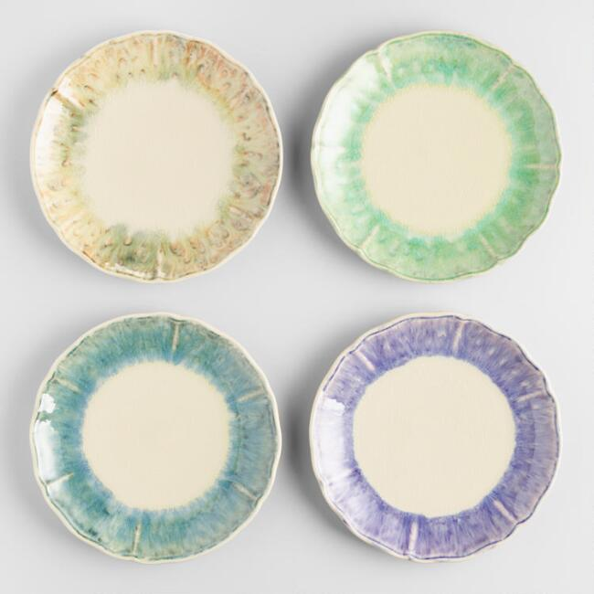 Lucia Reactive Glaze Plates Set of 4