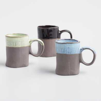 Dipped Organic Espresso Cups Set of 3