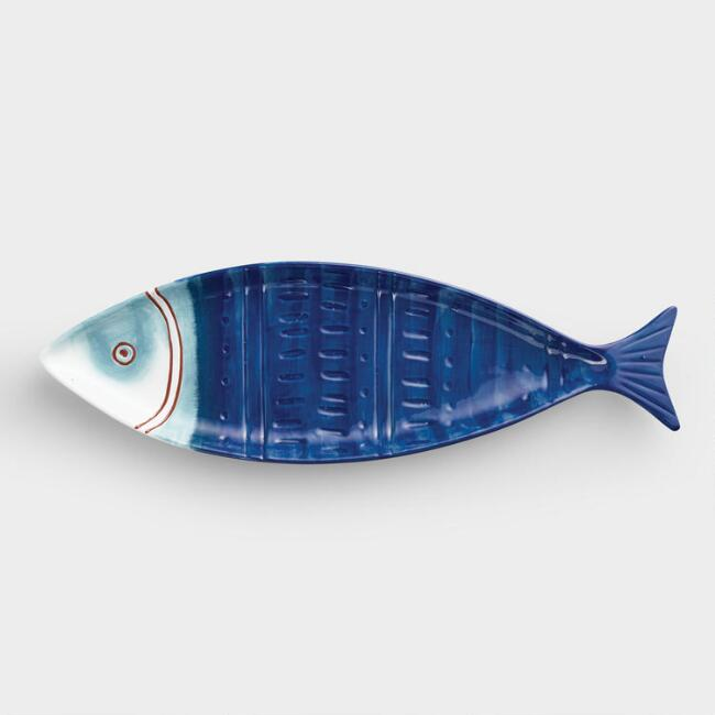 Terracotta Fish Shaped Serving Platter