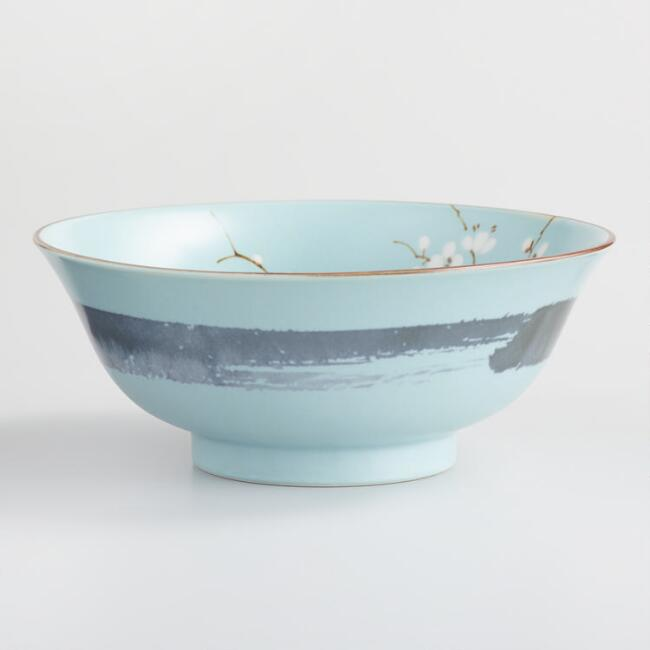 Powder Blue Porcelain Sakura Bowls Set of 4