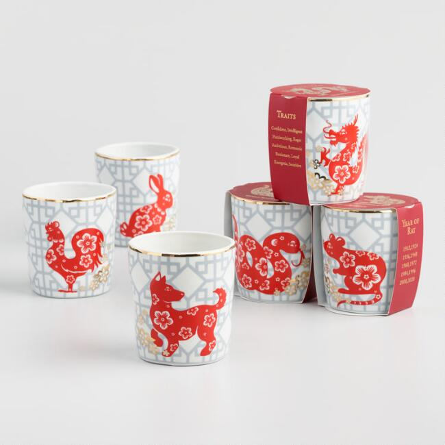 Porcelain Lunar New Year Zodiac Cup