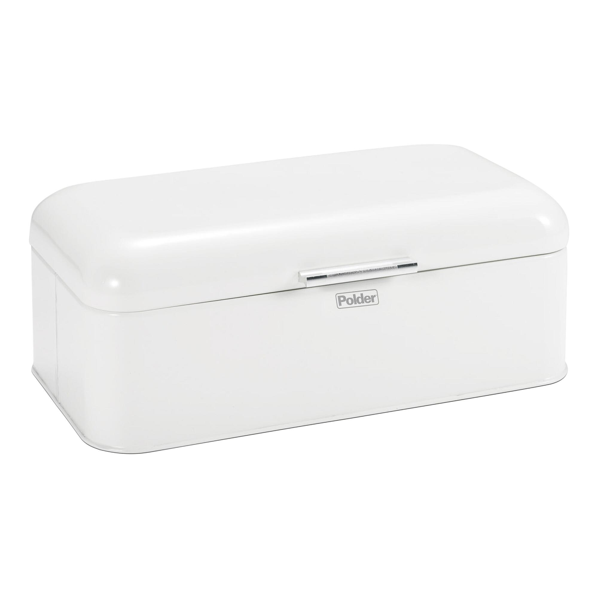 Large White Retro Bread Bin - Metal by World Market
