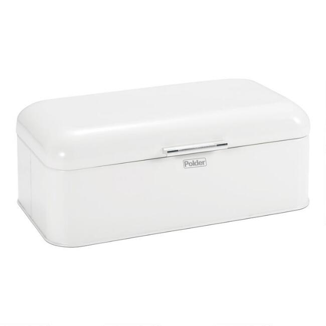 Large White Retro Bread Bin