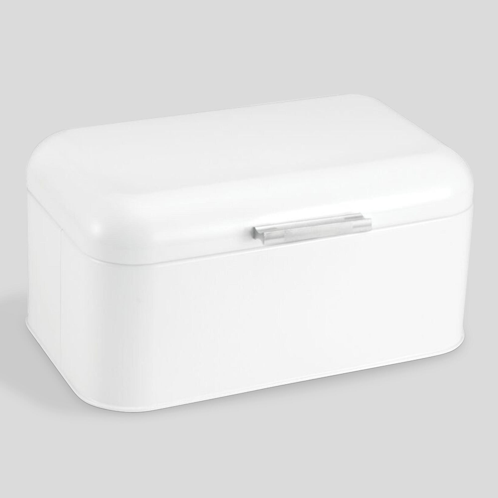 Mini White Retro Bread Bin - Metal by World Market