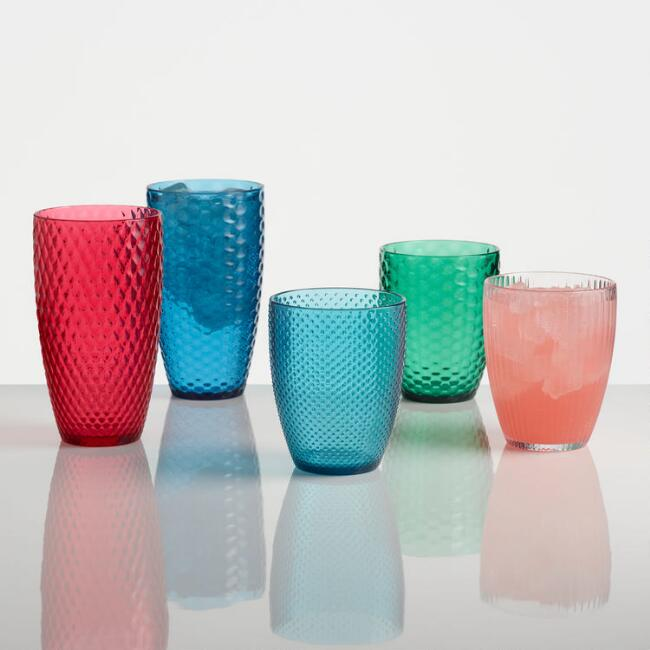 Textured Acrylic Glassware Collection