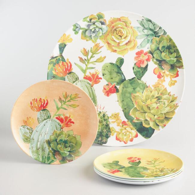 Cactus Melamine Dinnerware Collection