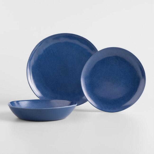 Indigo Melamine Dinnerware Collection
