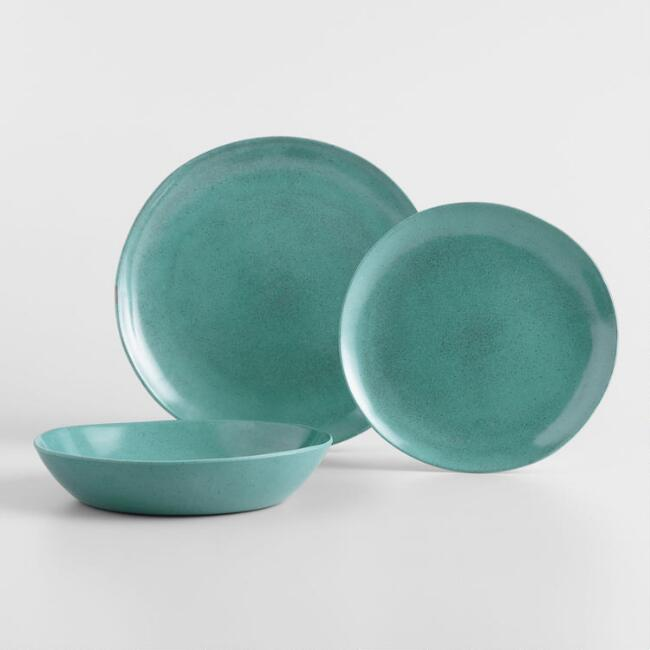 Teal Melamine Dinnerware Collection
