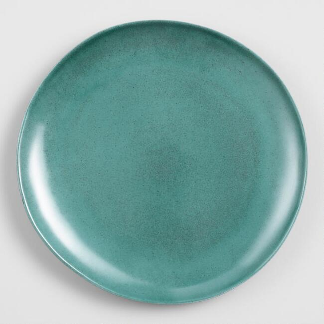 Teal Melamine Dinner Plates Set of 4
