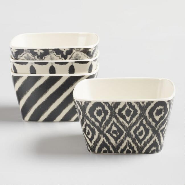 Psychedelic Melamine Dipping Bowls Set of 4