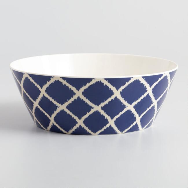Blue Solstice Melamine Serving Bowl