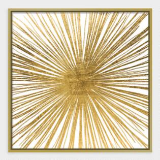 golden ray wall art in gold frame - Wall Art For Living Room