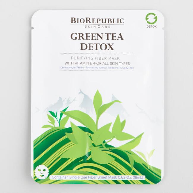 BioRepublic Green Tea Detox Korean Beauty Sheet Mask Set of