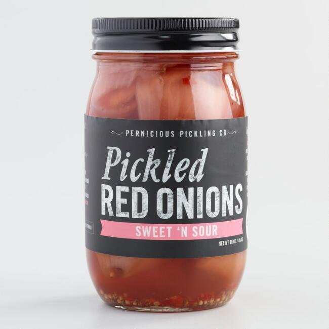 Pernicious Pickling Sweet N Sour Pickled Red Onions