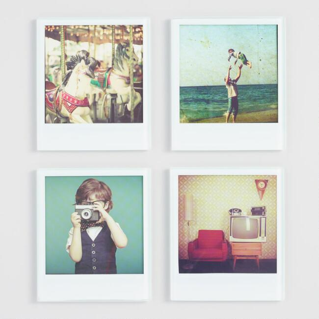 Polaroid Glass Coasters Set of 4