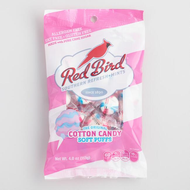 Red Bird Cotton Candy Puff Candy