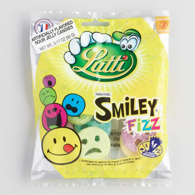 Lutti Smiley Face Fizz Gummy Candy