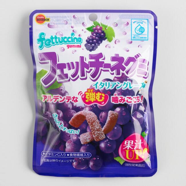 Wismettac Grape Fettuccine Gummy Candy