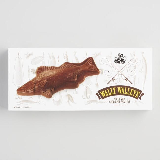 Baraboo Wally Walleye Milk Chocolate Fish