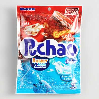 Puchao Cola and Ramune Soda Gummy Candy Set of 6