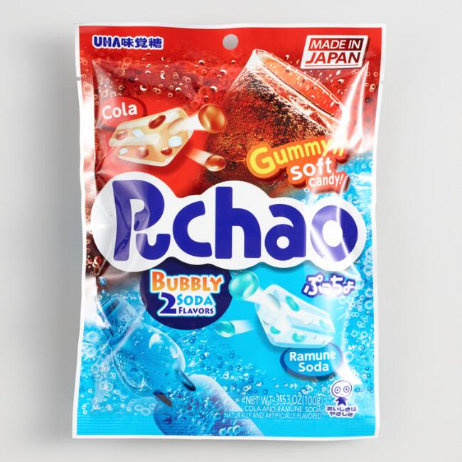 Puchao Cola and Ramune Soda Gummy Candy