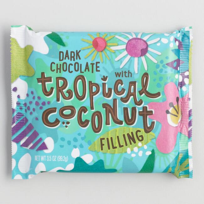 World Market® Tropical Coconut Dark Chocolate Bar