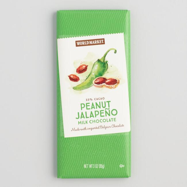 World Market® Peanut Jalapeno Milk Chocolate Bar