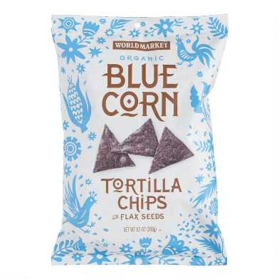 World Market? Blue Corn & Flaxseed Tortilla Chips Set of 12