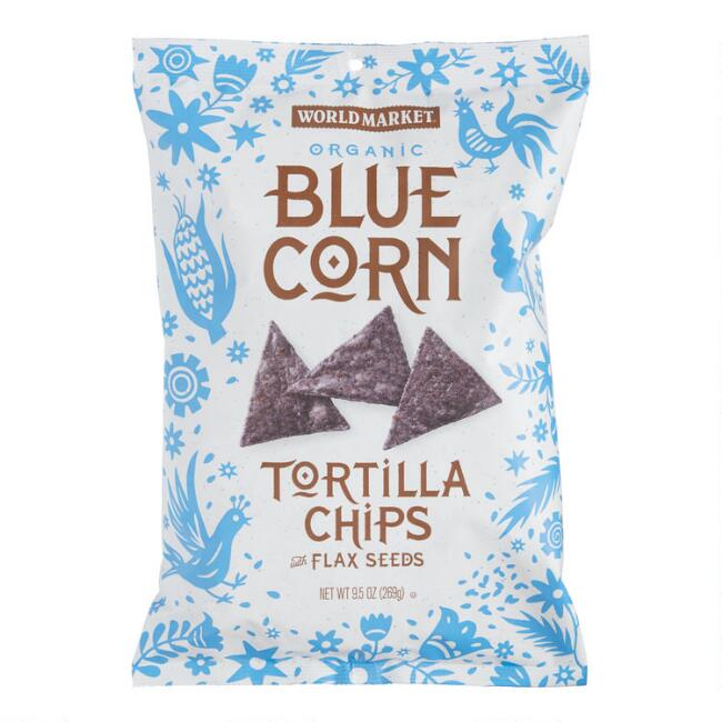 World Market® Blue Corn and Flaxseed Tortilla Chips