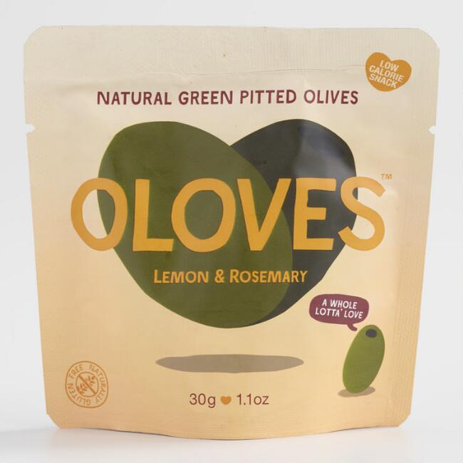 Oloves Lemon and Rosemary Pitted Green Olives