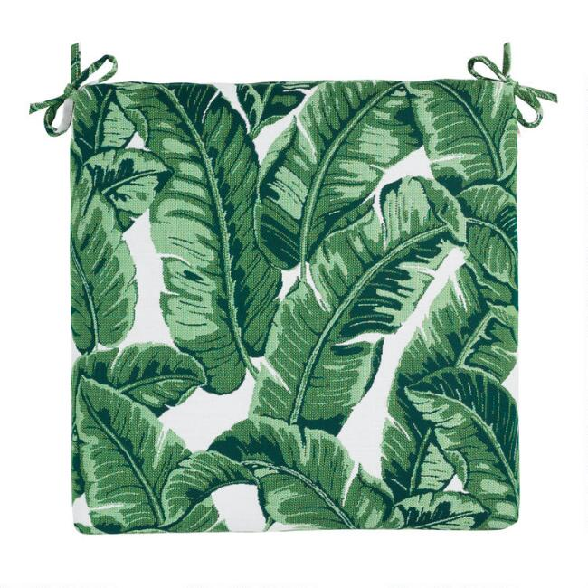 Sunbrella Tropical Leaf Outdoor Chair Cushion