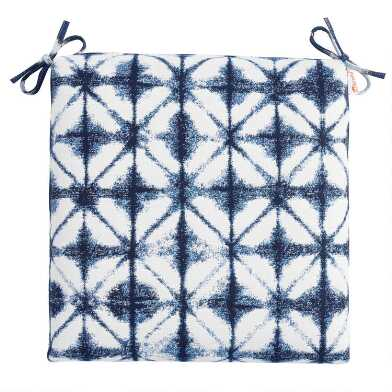 Sunbrella Indigo Tile Outdoor Chair Cushion