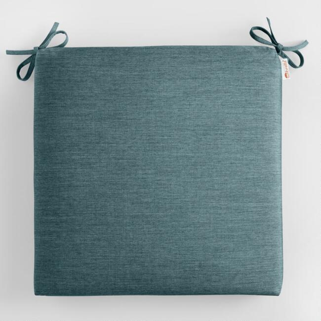 Sunbrella Teal Lagoon Cast Outdoor Chair Cushion