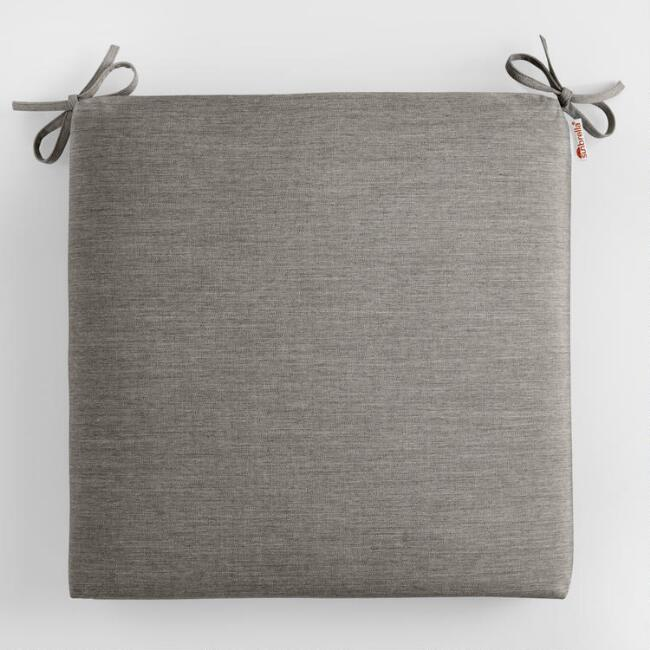 Sunbrella Charcoal Canvas Outdoor Chair Cushion