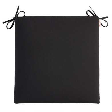 Sunbrella Black Canvas Outdoor Chair Cushion